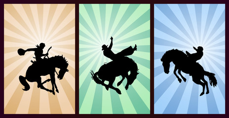 Set of Cowboys, Silhouette