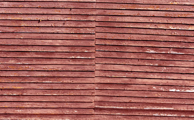 Wooden house red wall texture.