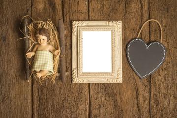 Christmas cards, Baby Jesus photo frame