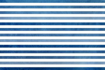 Watercolor dark blue striped background. Blue gradient pattern.