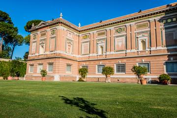 Dans le Jardin Carré du Musée du Vatican à Rome
