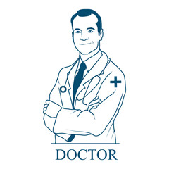 Image Of The Doctor.Doctor Icon Vector