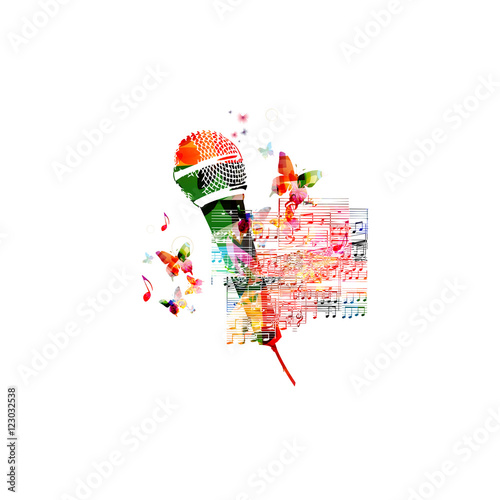 """Creative music style template vector illustration ..."
