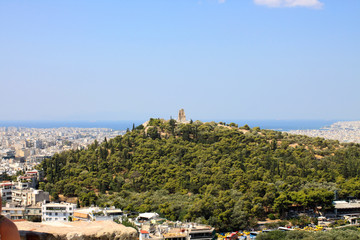 View on a hill in Athens