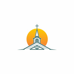 Chuch Cathedral Logo Icon
