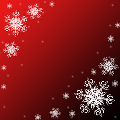 Christmas or new year pattern,white snowflakes on the red and black background