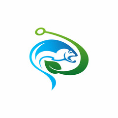 Fishing Lures Natural Logo Icon