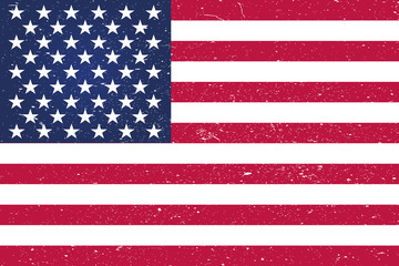 background American flag (USA) EPS10