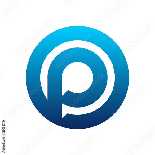 Modern P Circle Talk Dialog Logo Stock Image And Royalty Free