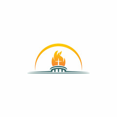 Torch Church Modern Logo Icon