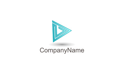 Geometric logo template on white background