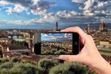 Firenze vista dallo smartphone