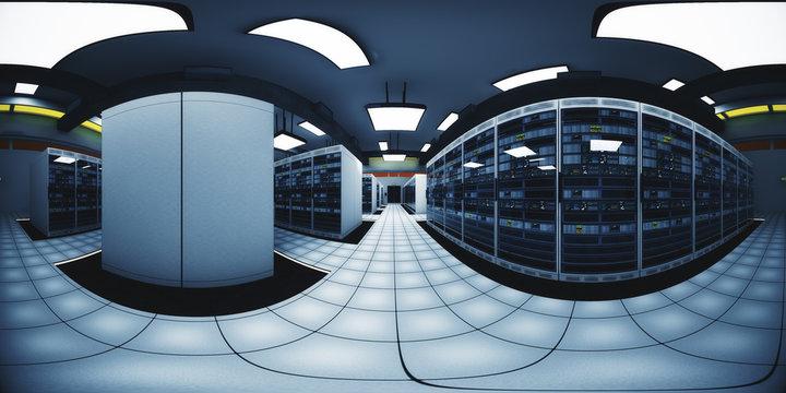 Modern Data Center Server Room VR360