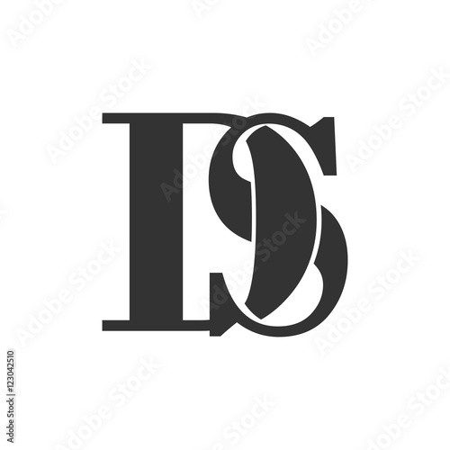 quotds letter initial logo designquot stock image and royalty