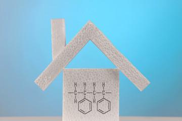 polystyrol formula on a house