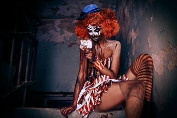 sexy zombie clown