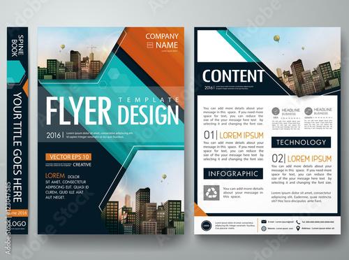Cover book portfolio presentation brochure design template