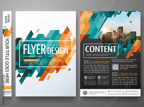 flyers design template vector brochure report business magazine