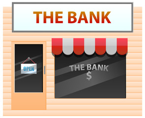 Small bank vector image
