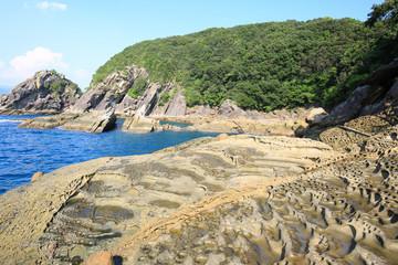 高知県土佐清水市 見残し海岸 縞岩