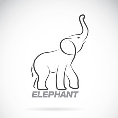 Vector of an elephant design on a white background. Elephant Log