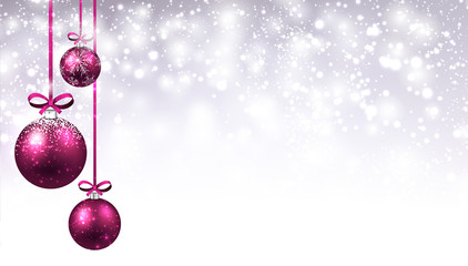 New Year background with Christmas balls.