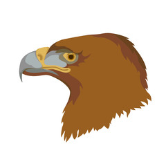 eagle head face vector illustration style Flat