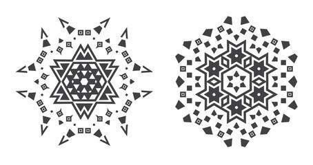 Israel Jew Ethnic Fractal Mandala Vector looks like Snowflake or