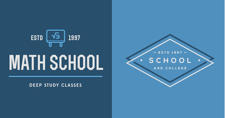 Set of Vector School or College Identity Elements can be used as
