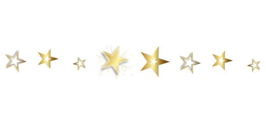 Sterne Stern Star Stars Reihe Band Banner Gold