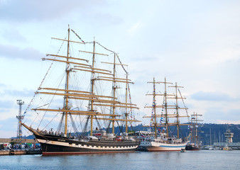 Varna, Bulgaria - October 02.2016: international Tall Ships fleet is returning to the Black Sea 2016.