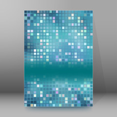 background report brochure Cover Pages A4 style abstract glow87