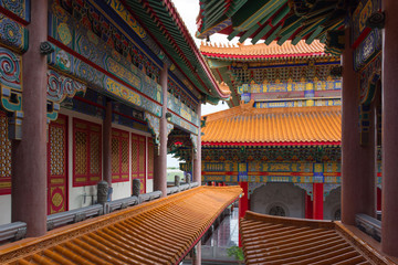 Art of building in Chinese temple