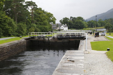 Neptune's Staircase, Banavie Schleußentreppe Schleuße bei Fort William in Schottland