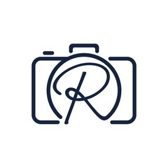 R photography logo design