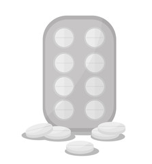 Pills icon. Medical and health care theme. Colorful design. Vector illustration
