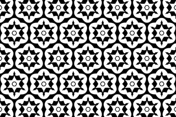 Ornament with elements of black and white colors. 21