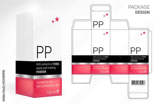 packaging design cosmetics cut the carton shampoos creams