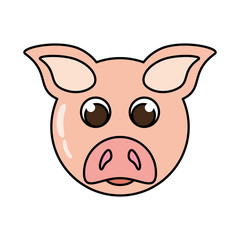 pig animal farm isolated icon vector illustration design