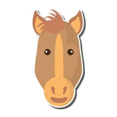 horse animal farm isolated icon vector illustration design