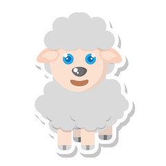 sheep animal farm isolated icon vector illustration design