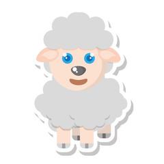 sheep animal farm isolated icon vector illustration design