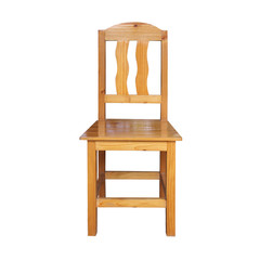 old wooden chair on white background