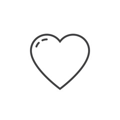 heart line icon, love outline vector logo illustration, linear pictogram isolated on white