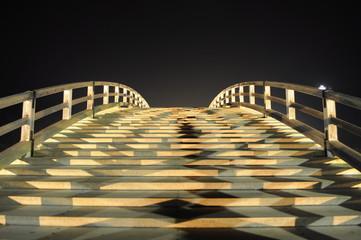 錦帯橋(山口県岩国市 夜景 ライトアップ)