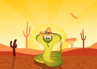 cobra in Mexivan landscape