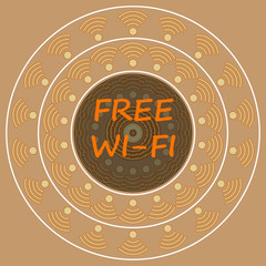 vintage free wi-fi sign background,vector Illustration EPS10