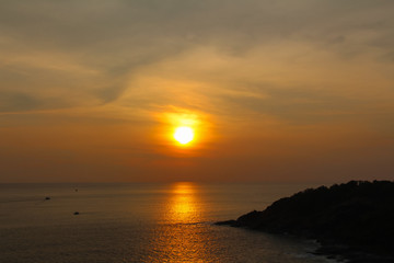 Sunset at Laem Phrom Thep in Phuket province,Thailand.