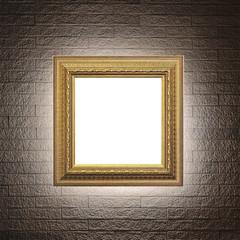 Frame on modern brick wall