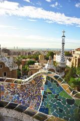 Parc Güell in Barcelona, Spain